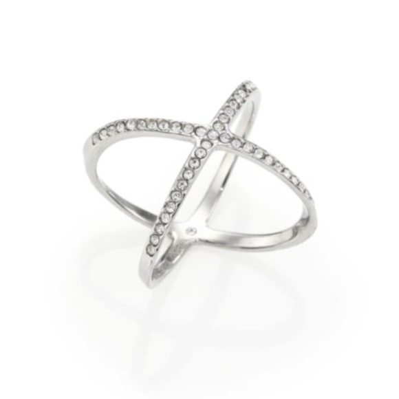 Michael Kors Jewelry - Michael Kors Brilliance Silver Pave Crystal Ring